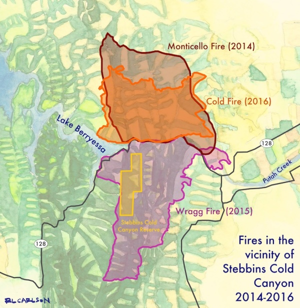Lake Berryessa Fire Map.Lake Berryessa Wildfire To Wildflowers